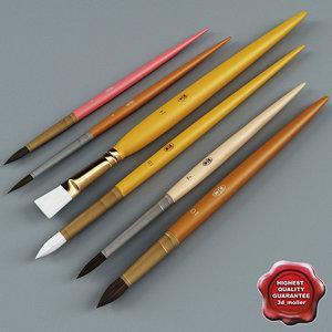 3d artist painting brushes v2