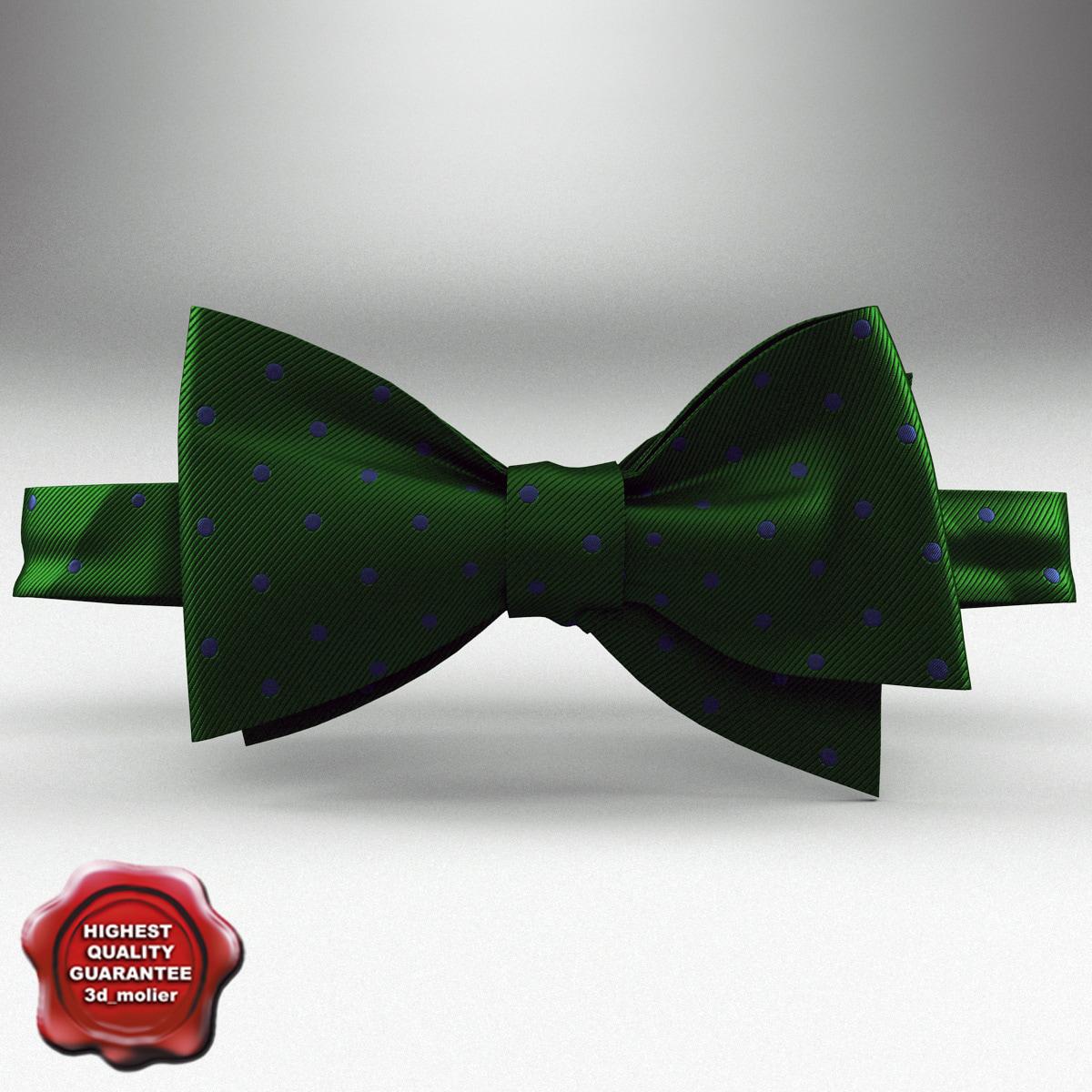 3d bow tie green model