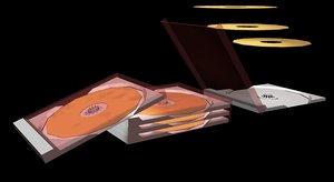compact disks case 3d model