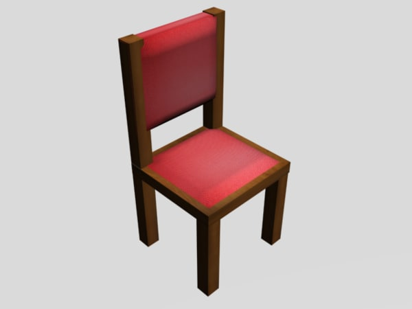 free 3ds mode small simple chair