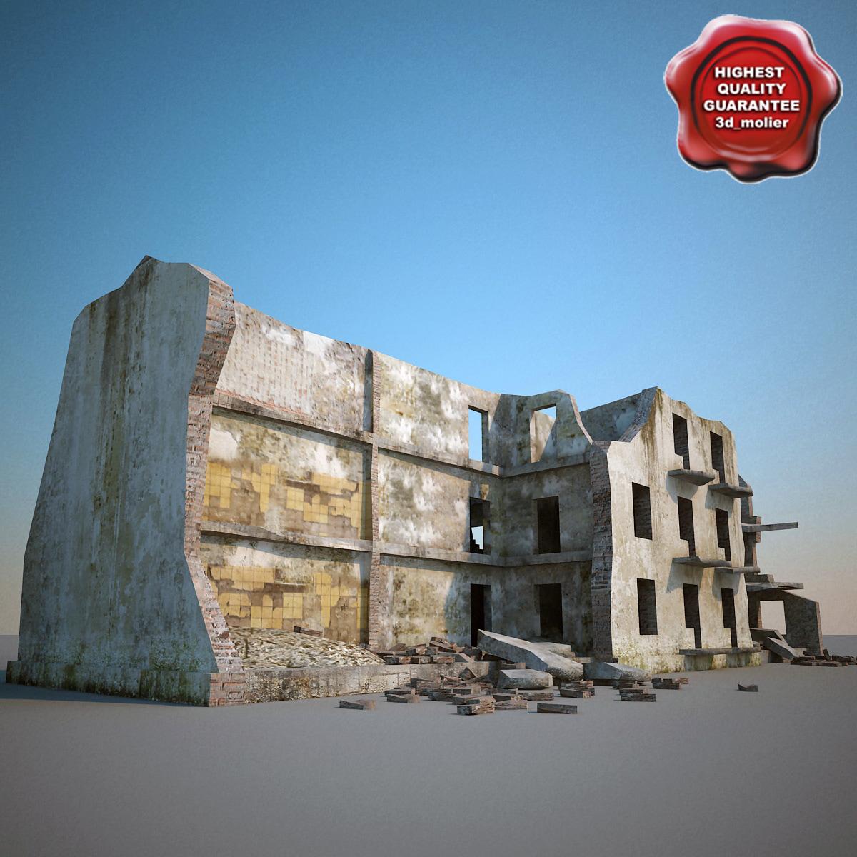 3ds max destroyed house v6
