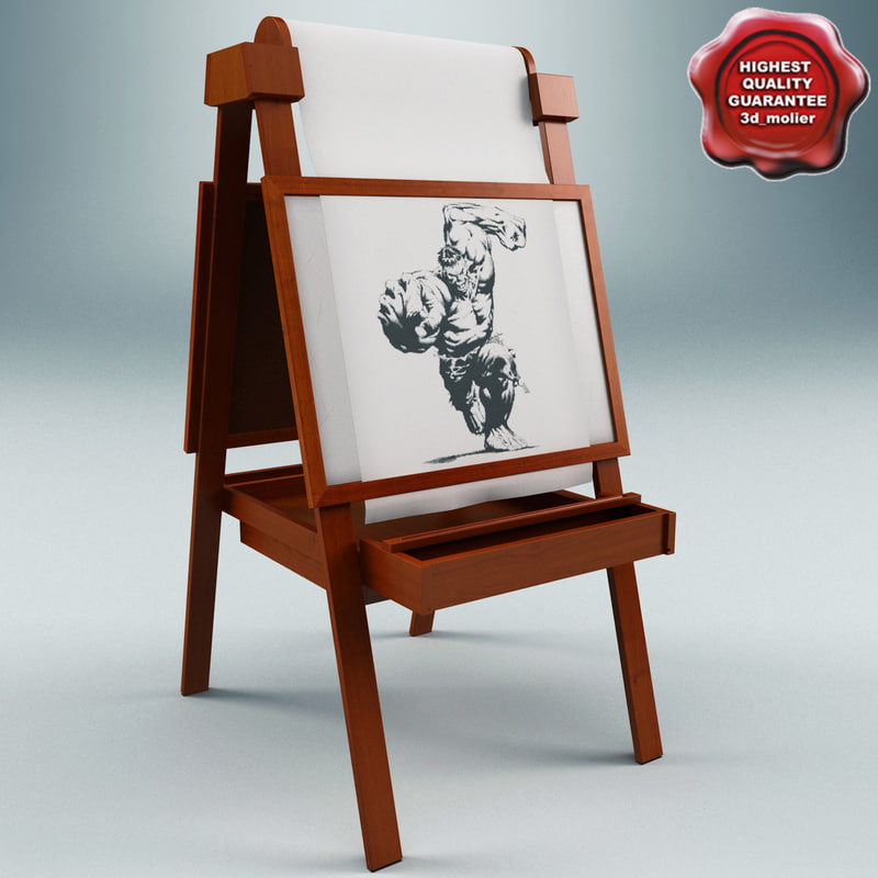 3d model easel small