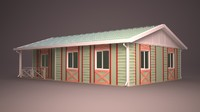 3dsmax homes facade roof