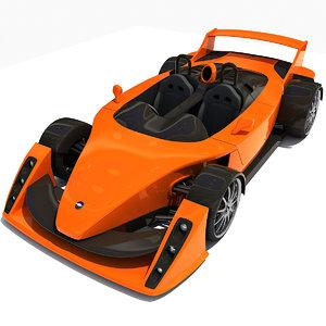 hulme canam supercar car 3d model