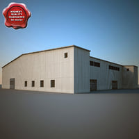 3d model of industrial building v4
