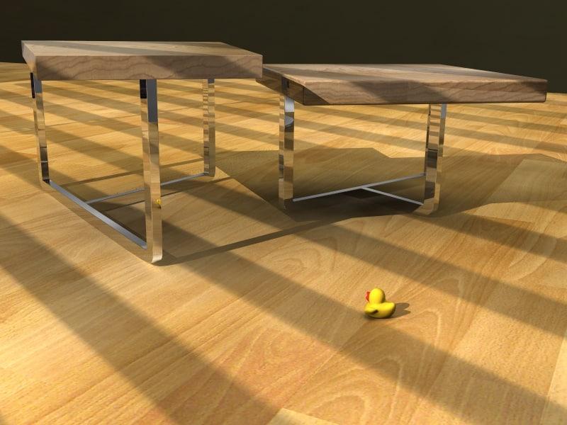tables livingroom office 3d model