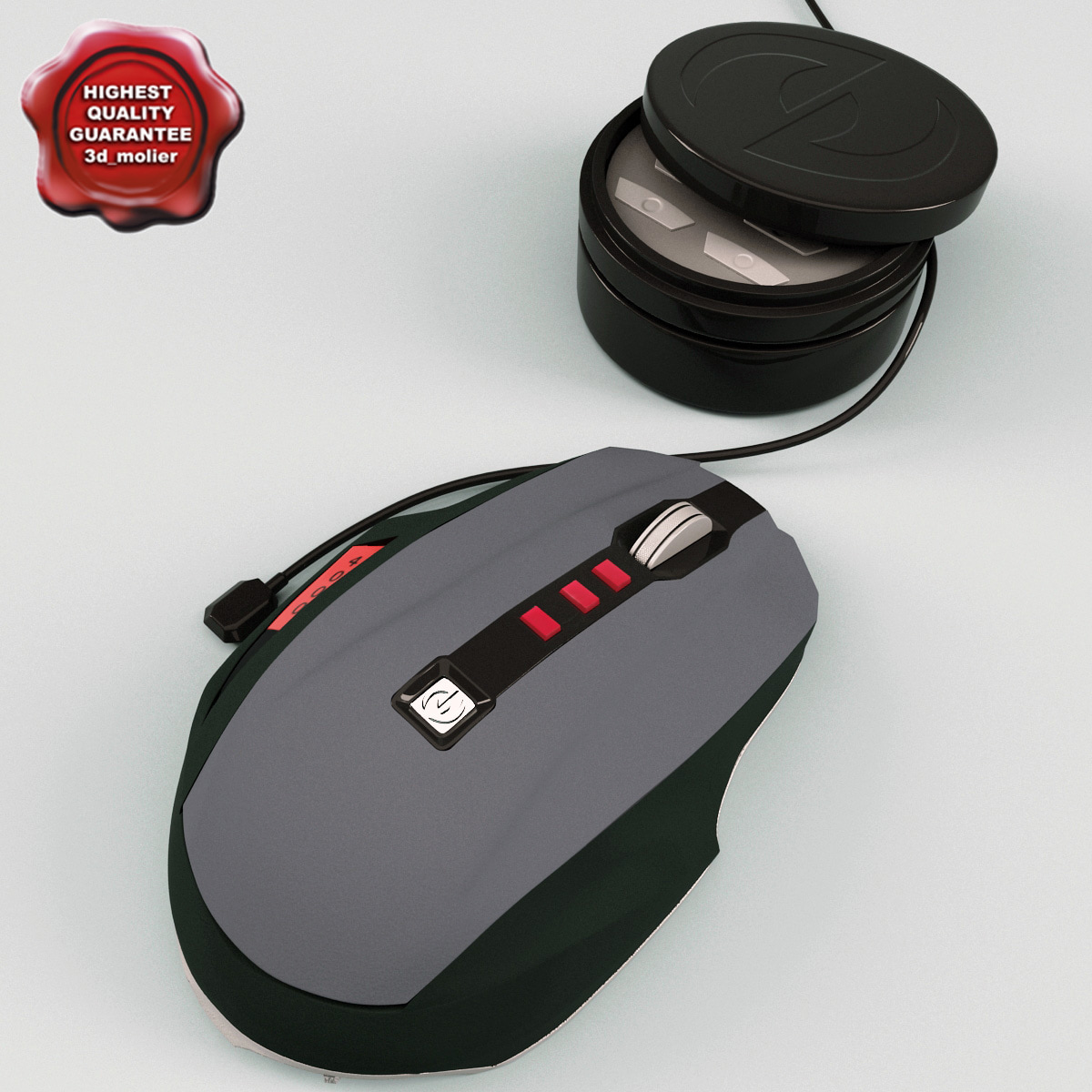 3d model microsoft sidewinder mouse