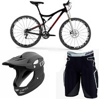 Mountain Bike Equipment Collection