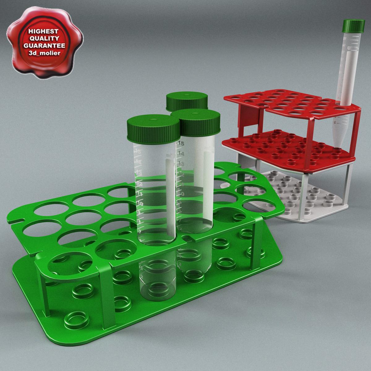 plastic vials racks 3d model