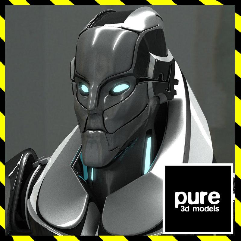 futuristic male robot cyborg max