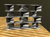 shelf livingroom office 3d lwo