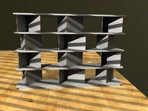 shelf livingroom office 3d lwo