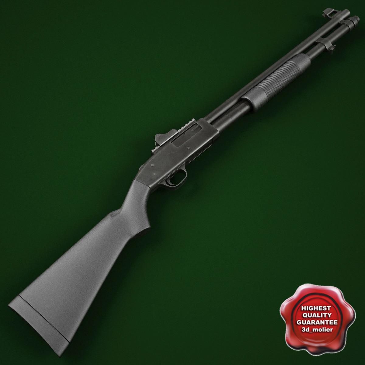 shotgun mossberg 590 3d model