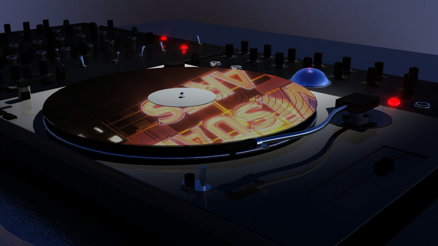 turntable synth 3d model
