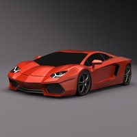 3d model lamborghini aventador sports car