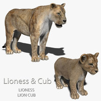 Lioness & Cub (FUR)