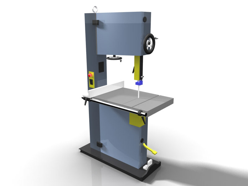 3d woodworking bandsaw model
