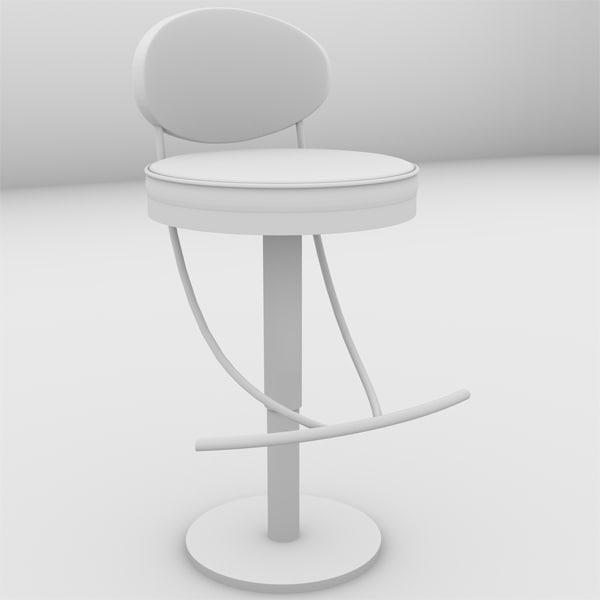 3d model 3dsm bar stool