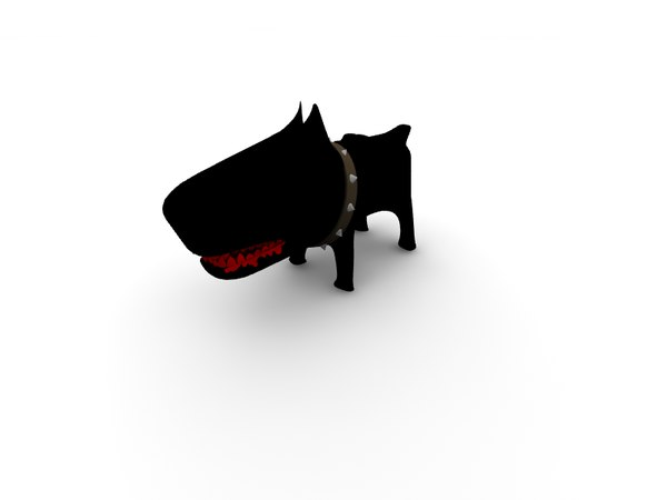 pitbull dog 3d lwo