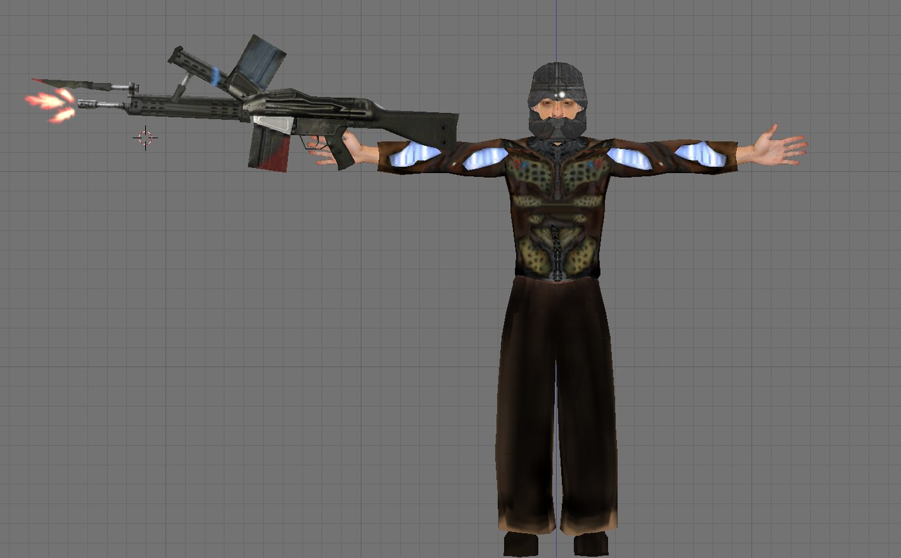 futuristic soldier 3d obj