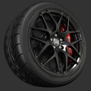 3d model hre p40 wheel