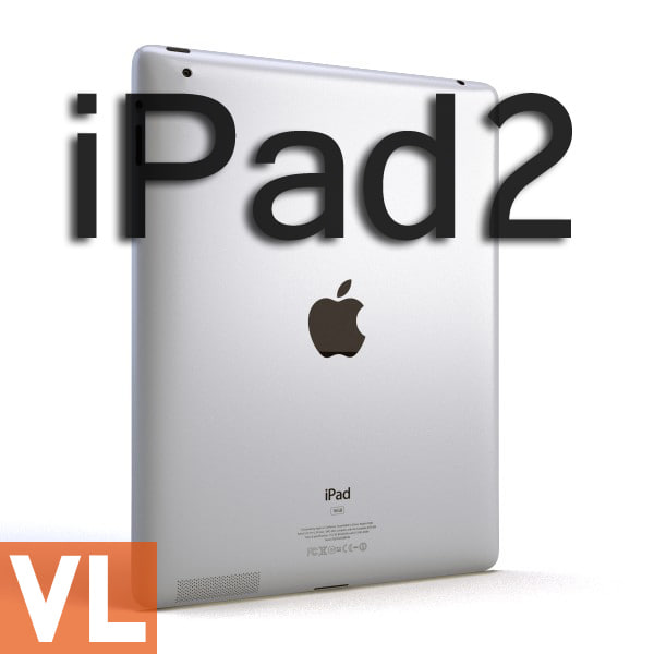 apple ipad2 3d obj