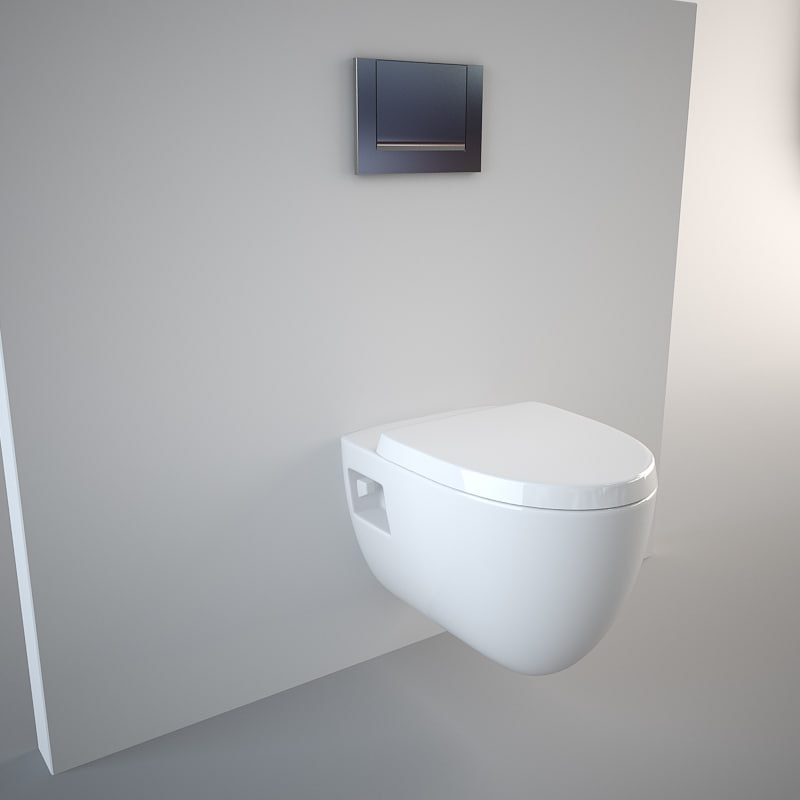 3d wall hung toilet