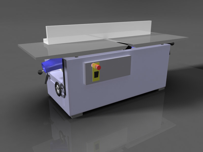 3d model woodworking jointer