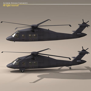 secret stealth blackhawk mh60 3d model