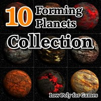 10 forming planets 3d model