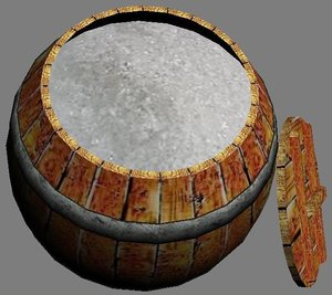 wooden barrel salt 3d max
