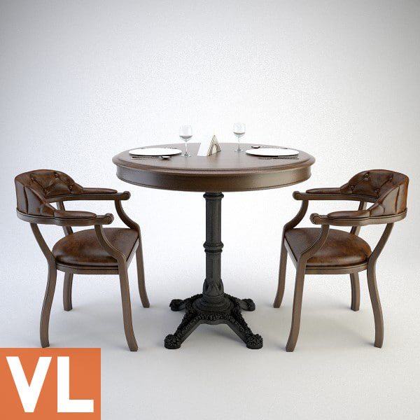 chair dining group 3d model