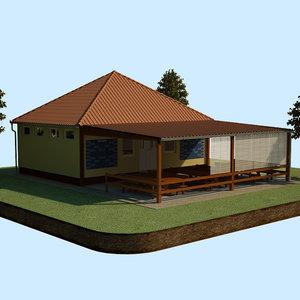 tennis club 3d model