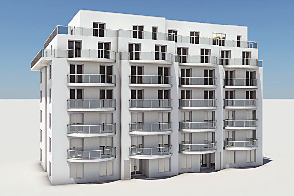3d residential complex element