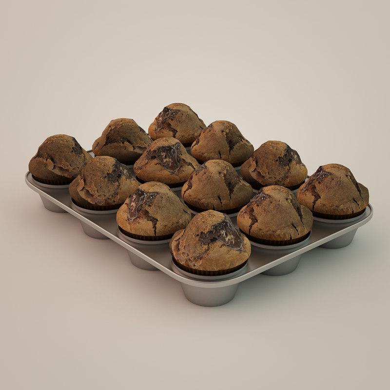 muffins backing form 3d model