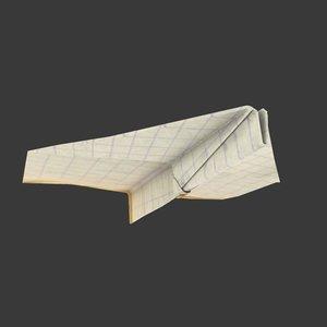 3ds max paper plane