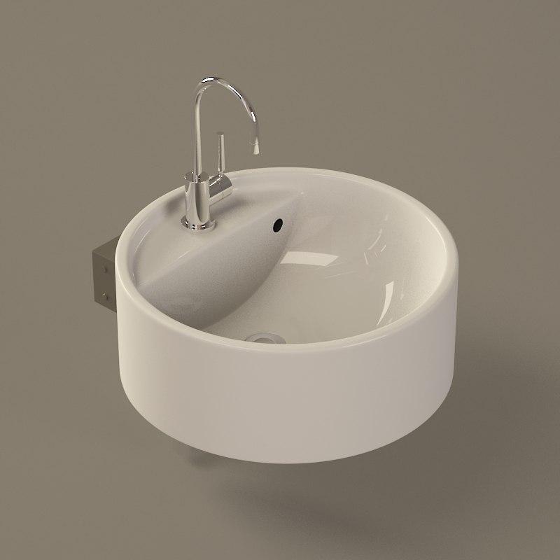 3d model flaminia twin sink