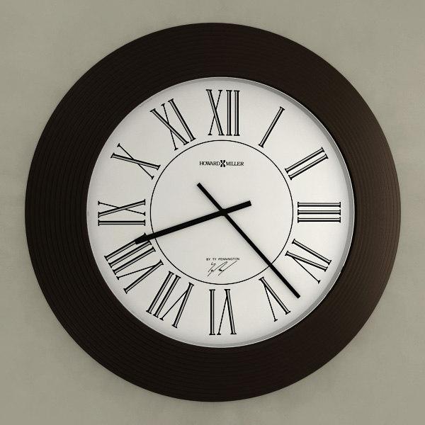 3d model analog wall clock