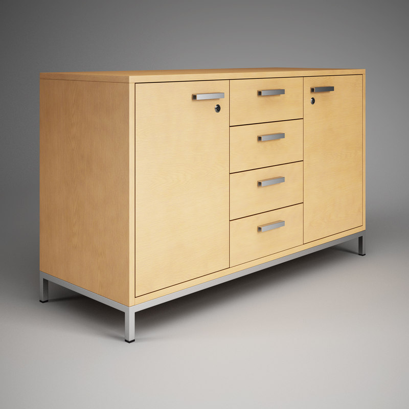 3d office cabinet 08