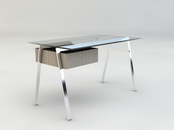 herman miller homework desk 3ds
