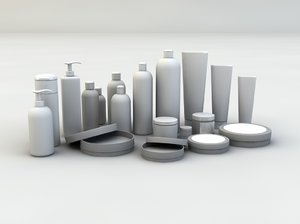 cosmetic bottles 3d 3ds
