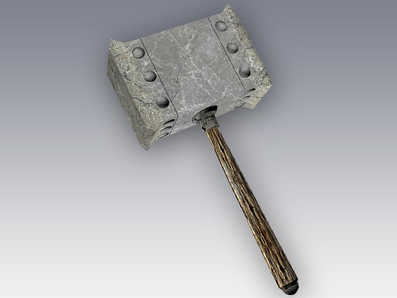 3d model hammer games ready