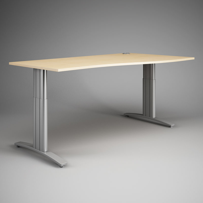 3d max cgaxis office desk 18