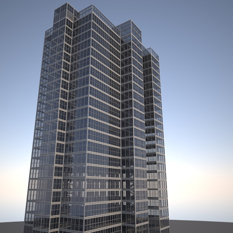 large glass skyscraper 3d 3ds