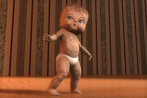 3d baby doll model