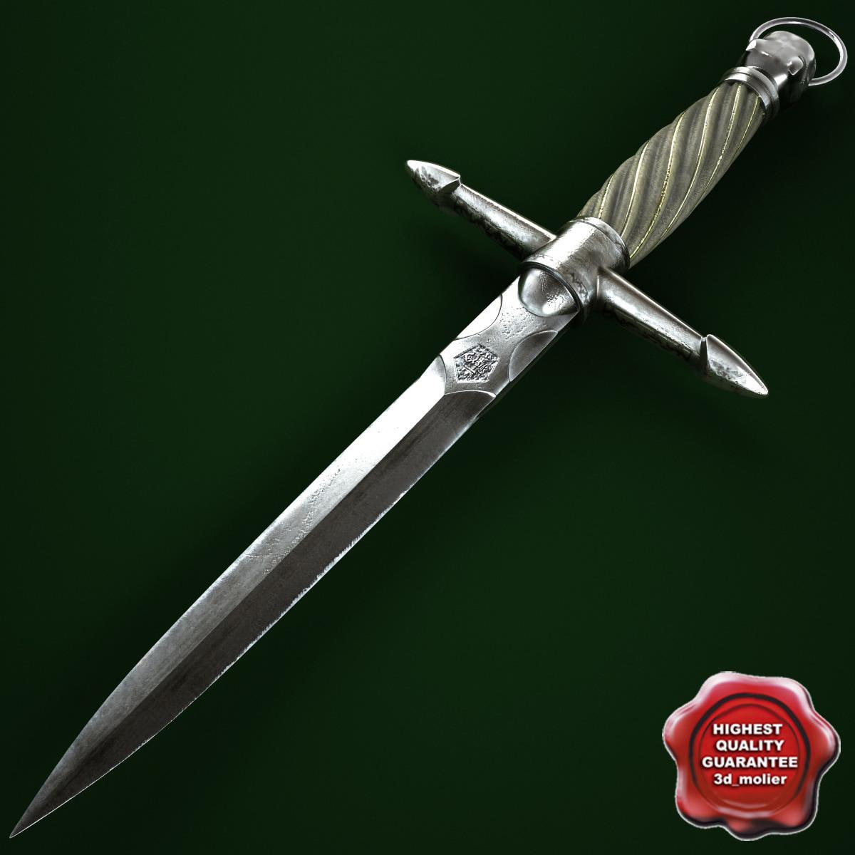3ds max dagger modelled