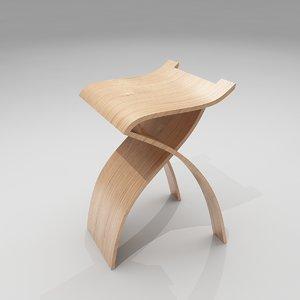 3ds max flow stool bar