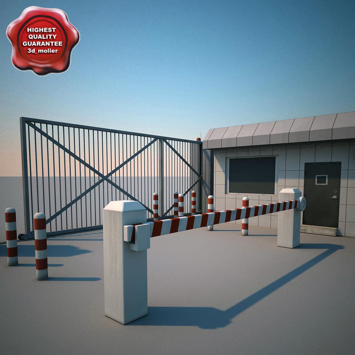 guard building gate obj