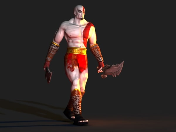 kratos god war video 3d max