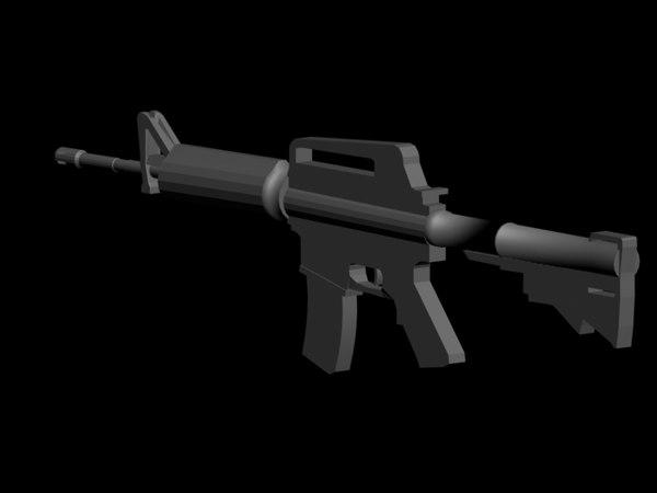 free m4a1 3d model